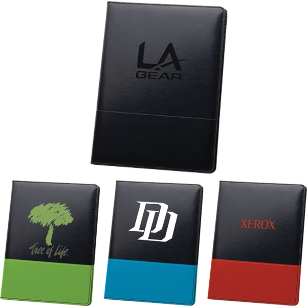 Custom Imprinted 1 Day Service Leatherette Portfolios