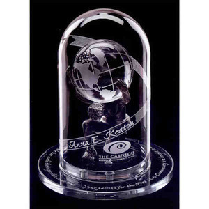 Custom Imprinted Atlas 2000 Globe Crystal Awards