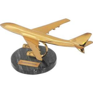 Custom Imprinted Brass Airplanes