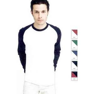 American Apparel Long Sleeve Shirts For Men - American Apparel Baby Ribbed L/S Ragian Shirts For Men