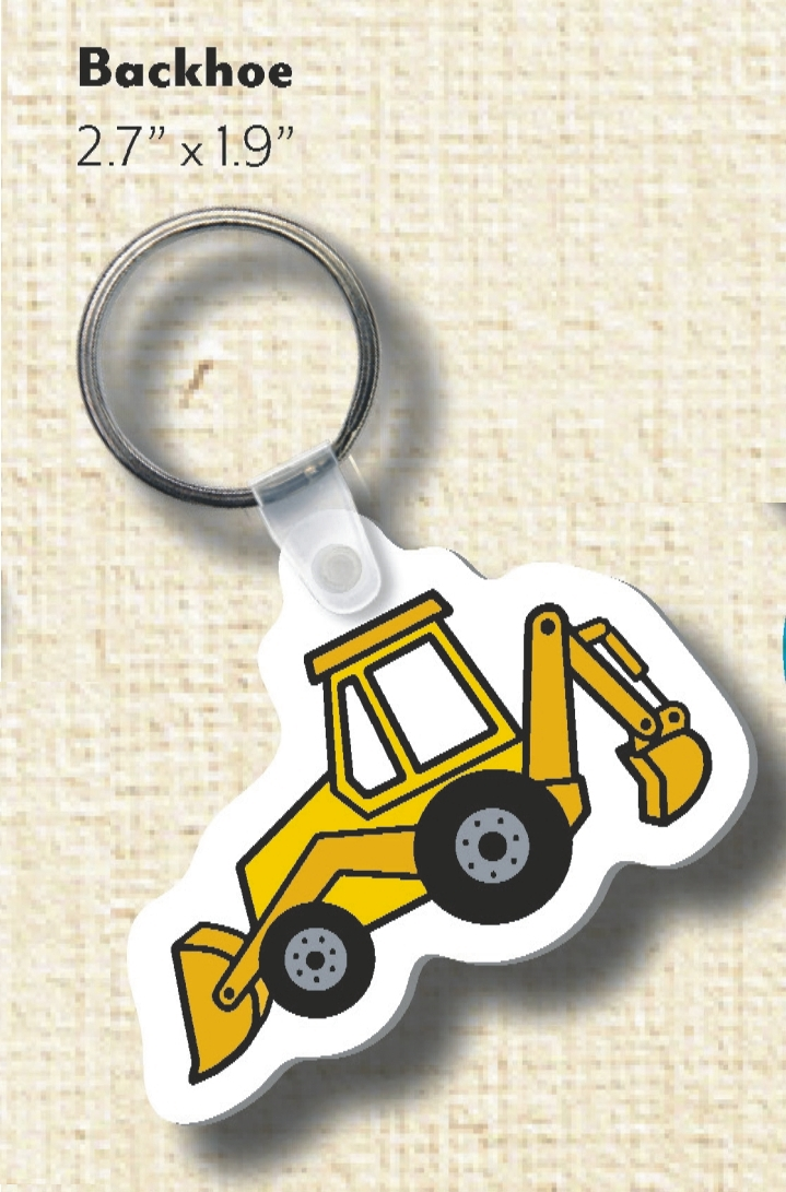 Customized Backhoe Shaped Key Tags!