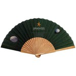 Custom Imprinted Bamboo Handle Fans