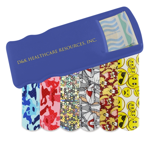 Custom Imprinted Bandage Dispensers with Pattern Bandages For Under A Dollar