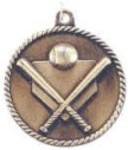 Custom Imprinted Baseball High Relief Medals