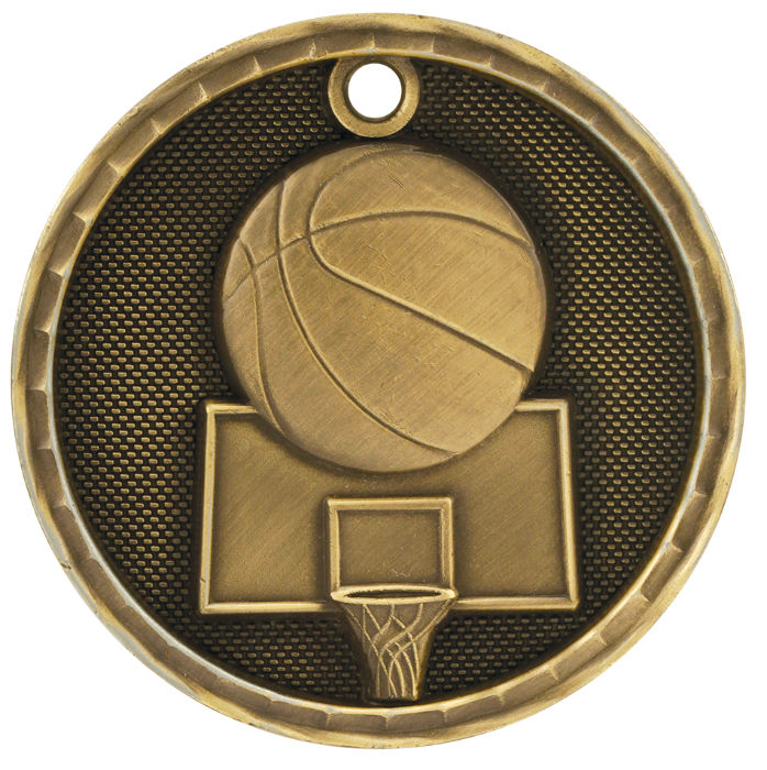 Custom Printed Basketball Medals