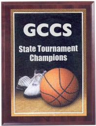 Custom Imprinted Basketball Photo Sport Plaques
