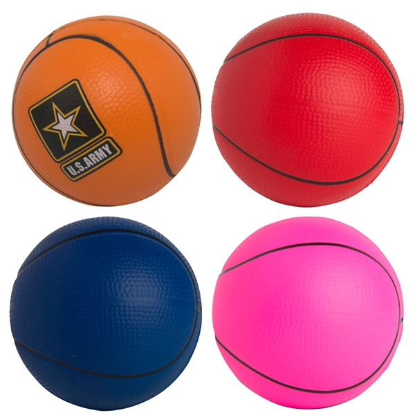 Custom Printed Basketball Stress Relievers!
