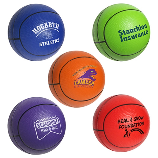 Custom Printed Basketball Stress Reliever