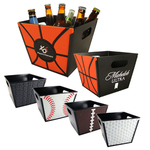 Custom Imprinted Basketball Sport Theme Buckets