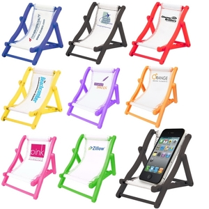 Custom Imprinted Beach Chair Cell Phone Holders