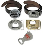 Custom Imprinted Belt Buckle Bottle Openers!