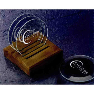 Custom Imprinted Beveled Coaster Crystal Gifts