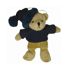 Custom Printed Black Bear Plush Ornaments