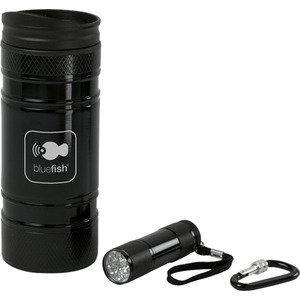 Personalized Black Chrome Combination Travel Mug Sets!