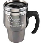 Black Chrome Travel Mugs - Black Chrome Stainless Steel Travel Mugs