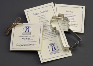 Customized Blue Ribbon Stock Shaped Cookie Cutters