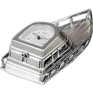 Custom Made Boat Shaped Silver Metal Clocks!