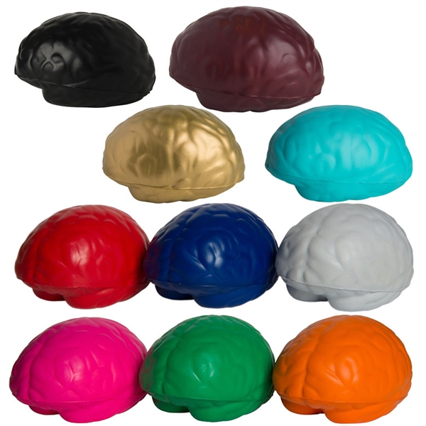 Custom Imprinted Brain Organ Shaped Stress Ball Squeezies