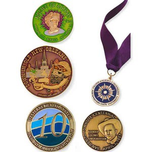 Custom Imprinted Brass Medallions!