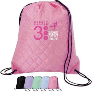 Custom Imprinted Breast Cancer Awareness Pink Backpacks!