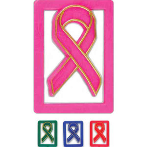 Breast Cancer Awareness Ribbon Items - Breast Cancer Awareness Pink Paperclips