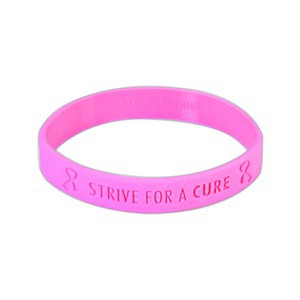 Custom Imprinted Breast Cancer Awareness Stock Shaped Silly Bands