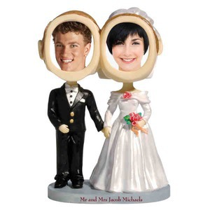 Wedding Theme Items - Bride And Groom Bobbleheads