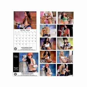 Custom Imprinted Building Babes Wall Calendars