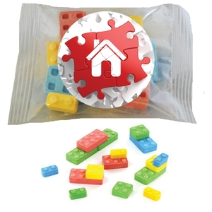 Custom Imprinted Building Block Candies