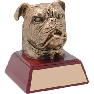 Custom Imprinted Bulldog Mascot Awards