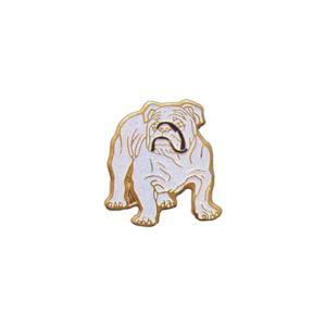 Custom Imprinted Bulldog Mascot Pins