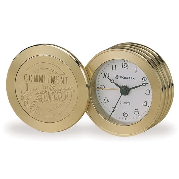 Custom Imprinted Brass Clocks!