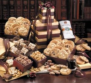 Custom Imprinted Burgundy Towers Food Gifts!