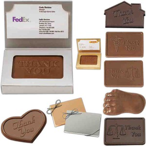 Custom Imprinted Business Card Chocolates Boxes