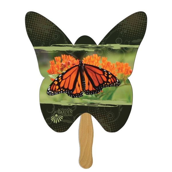Customized Butterfly Stock Shaped Paper Fans!