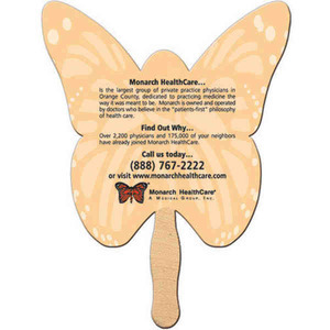 Stock Shaped Paper Fans - Butterfly Stock Shaped Paper Fans