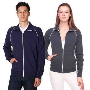 Custom Imprinted American Apparel California Fleece Track Jackets For Men!