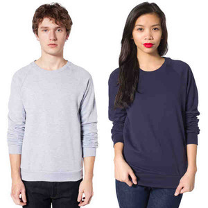 American Apparel Long Sleeve Shirts For Men - American Apparel California Fleece Ragian Shirts For Men
