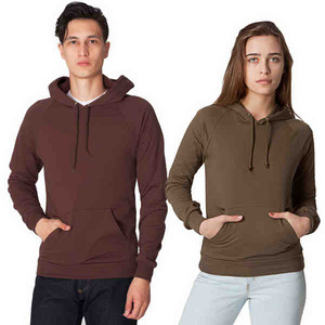 American Apparel Long Sleeve Shirts For Men - American Apparel California Fleece Pull-Over Hoodies For Men