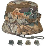 Custom Printed Camouflage Bucket Caps!