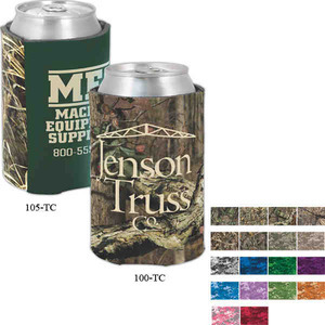 Custom Imprinted Camouflage Can Coolers
