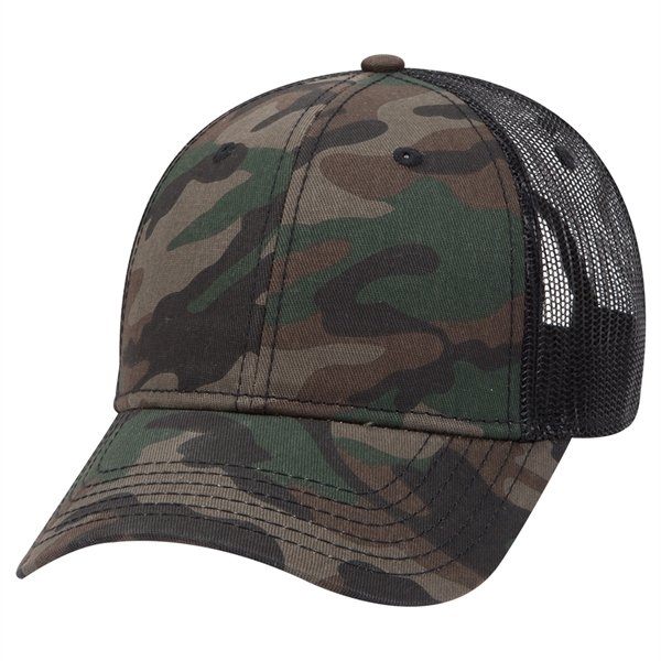 Custom Printed Camouflage Hats with a Mesh Back