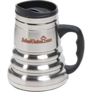 Customized Canadian Manufactured 14oz. Stainless Steel Tri Roll Desk Mugs!