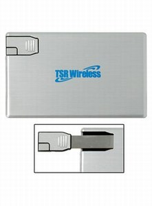 Custom Designed Canadian Manufactured 1GB Aluminum Credit Card Flash Drives!