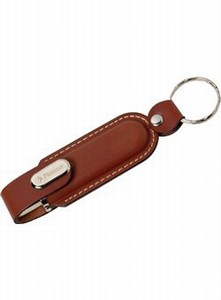 Customized Canadian Manufactured 1GB Leather Case Flash Drives