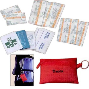 Canadian Manufactured Automotive And First Aid Kits - Canadian Manufactured 22 Piece Keyring First Aid Kits