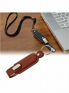 Custom Made Canadian Manufactured 512MB Leather Case Flash Drives