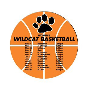 Custom Imprinted Canadian Manufactured Basketball Schedule Magnets