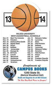 Custom Imprinted Canadian Manufactured Basketball Sport Schedule Magnets