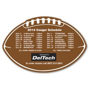 Custom Imprinted Canadian Manufactured Football Helmet Schedule Magnets